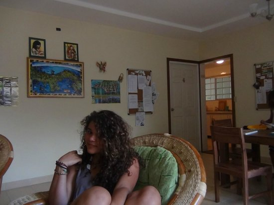 Spanish in the City - Panama City: Living Room from our Hostel