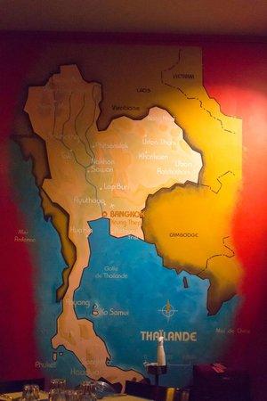 Une carte au mur, histoire de savoir d'où vient l'inspiration