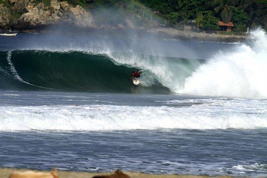 Playa Zicatela: Sou eu surfando em Zicatela