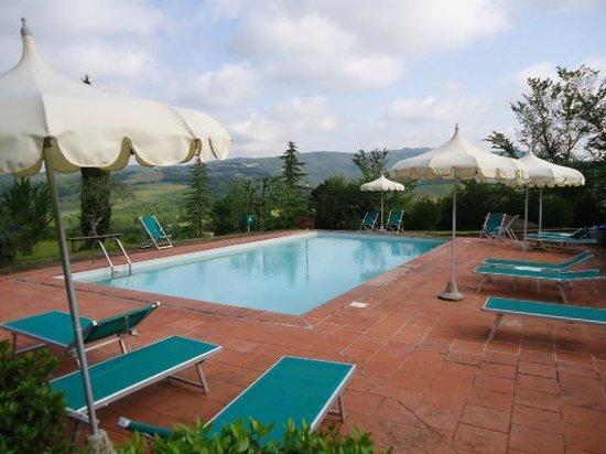 Il Paggino : Vista que tinhamos da piscina...
