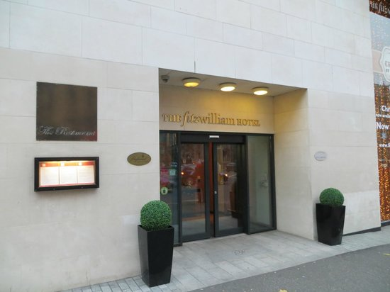 The Fitzwilliam Hotel Belfast: The Great Victoria Street Entrance