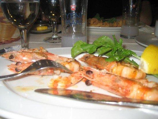Toros Restaurant: Die leckeren Gambas mit hausgemachter Knobisauce
