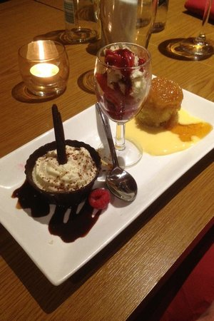 Christopher's at the Peel Aldergate: Dessert at the speciality fish night at Christopher's