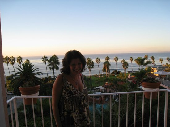 "La Valencia Hotel: Sunset from our ""Ocean View Room"""