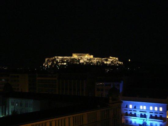 Titania Hotel: Vista para a Acrópole do restaurante