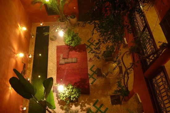 Riad Honey Sarl: the inner courtyard