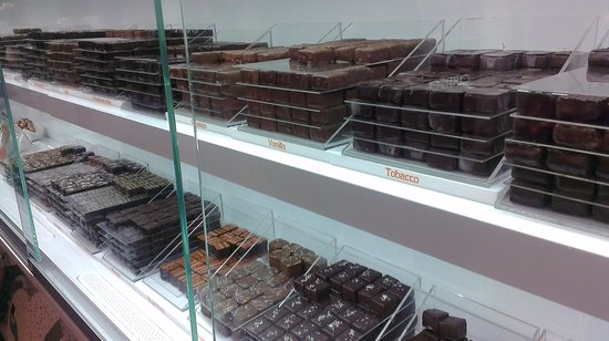 Chocolate Ecstasy Tours: Amazing flavors I've never seen before, like tobacco chocolate.