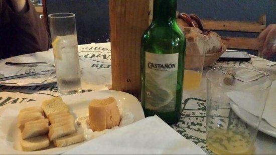 El Remo: Detalle  de la cena