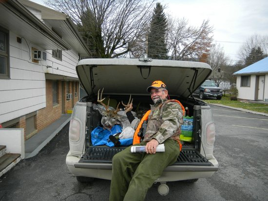 Falls Motel : Whitetail buck by guest! Hunting 2013 success!