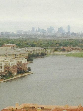 Omni Mandalay Hotel at Las Colinas: View from 17th floor looking west towards Dallas.