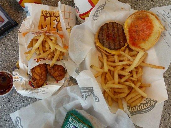 Hardee's: Hardees burger, chicken & fries