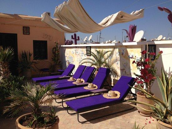 Riad Houdou : Repos sur la terrasse