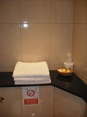 Garden View Hotel : Asciugamani puliti tutti i giorni