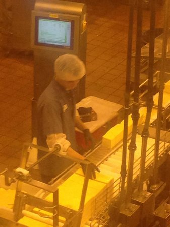 Tillamook Cheese Factory : the packaging line