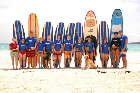 Macao Surf Camp: Friends who came to the camp with us