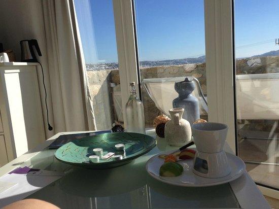 Rocabella Mykonos Art Hotel & SPA: complimentary fondue