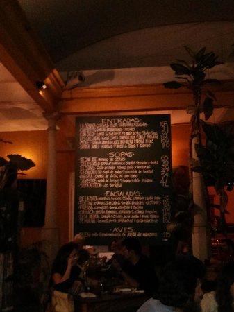 La Biznaga : Today's menu