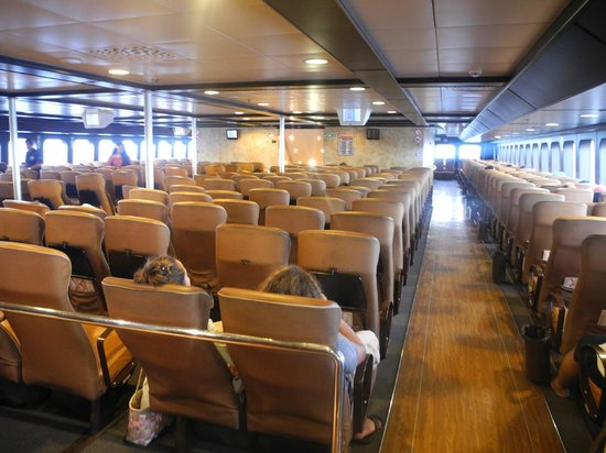 Aremiti Ferry : inside the ferry