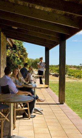 Cape Jaffa Wines: enjoying the view on the veranda