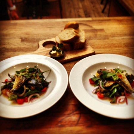 The Courtyard: Smoked Mackerel Salads...