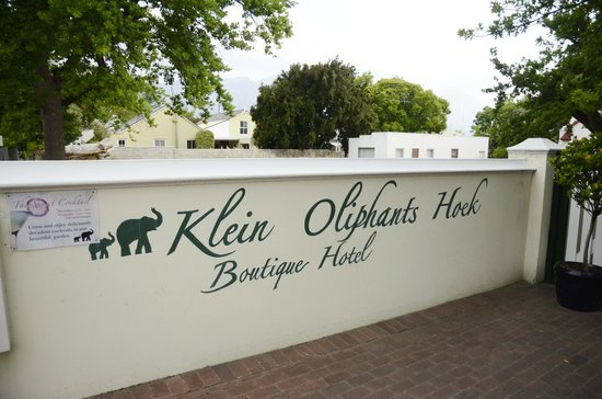 Residence Klein Oliphants Hoek : The entrance