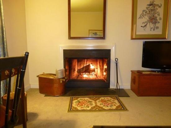 Harraseeket Inn: having a fire