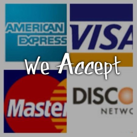 Louie K's Club Sandwich: We do accept credit cards