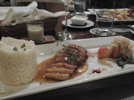 Blue Lagoon Restaurant : duck with risotto