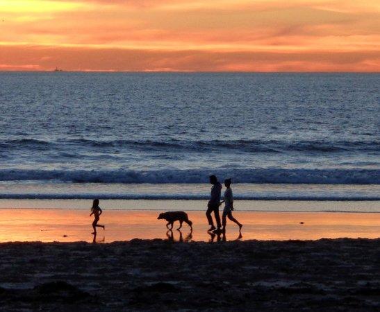 Surfer Beach Hotel: Sunset on the Beach