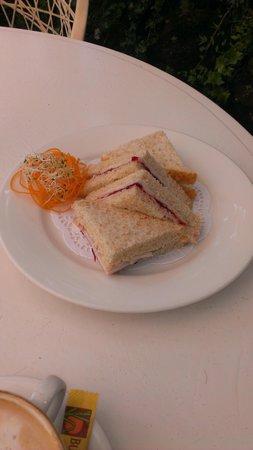 Eagle Heights, Australia: turkey and cranberry sandwich