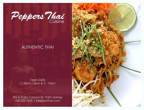 Photo of Asian Restaurant Peppers Thai Cuisine at 396 N Palm Canyon Dr, Palm Springs, CA 92262, United States