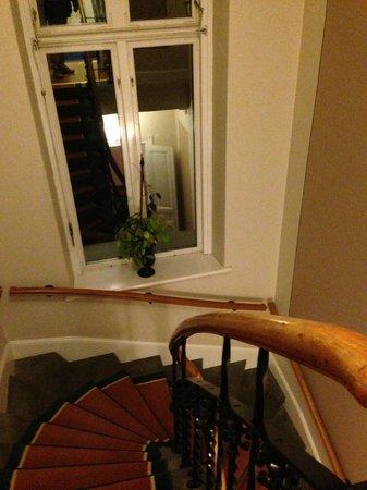 Grand Hotel Lund : 螺旋階段。使いませんが。