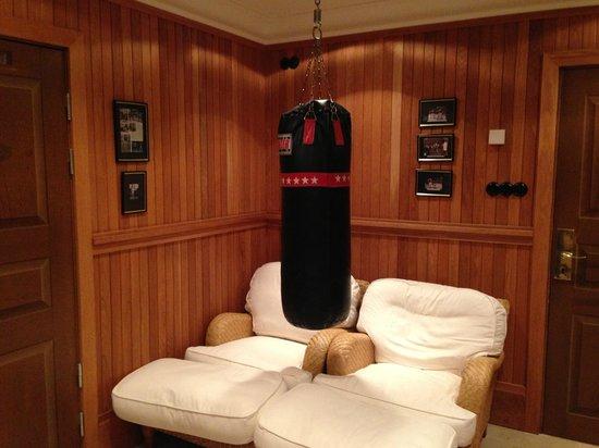 Grand Hotel Lund : ジムにあるサンドバッグ