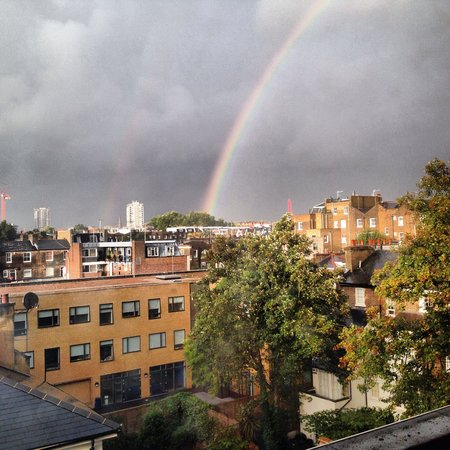 Umi London: Rainbow on our last day from the room!