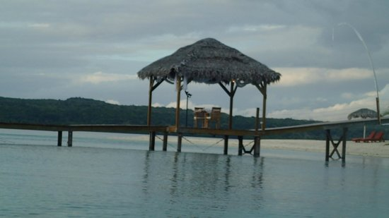 The Havannah, Vanuatu : Private dinner location on jetty