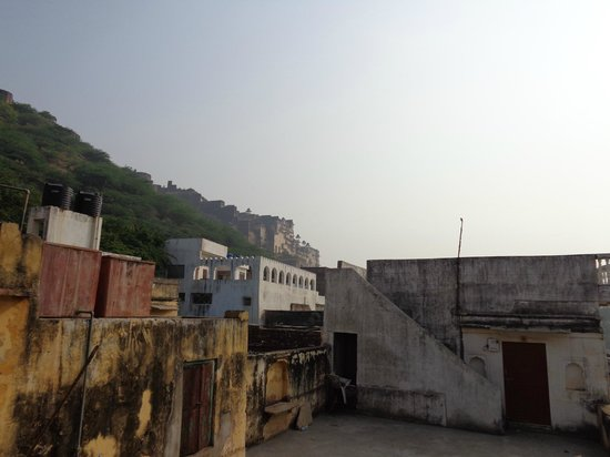 Shivam Tourist Guest House: View from the roof-top restaurant