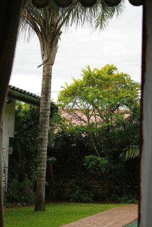 Igwalagwala Guest House : zicht vanuit de tuinkamer