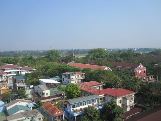 Mondial Hotel Hue: View from rooftop restaurant