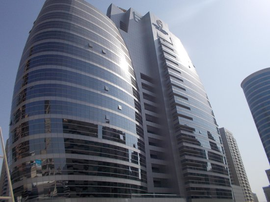 Auris Metro Central Hotel Apartments: Our hotel from outside
