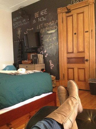 Made INN Vermont, an Urban-Chic Bed and Breakfast: fun chalkboard wall