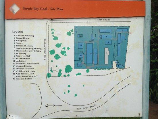 Fannie Bay Gaol: Map of Gaol