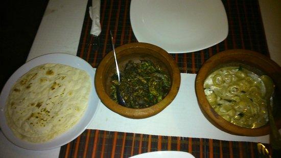 Ann's Residency: Dinner(Okra & Squid/Calamari) at the restaurant