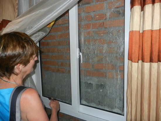 May De Ville Backpackers Hostel: Room with bricked up window - no ventilation
