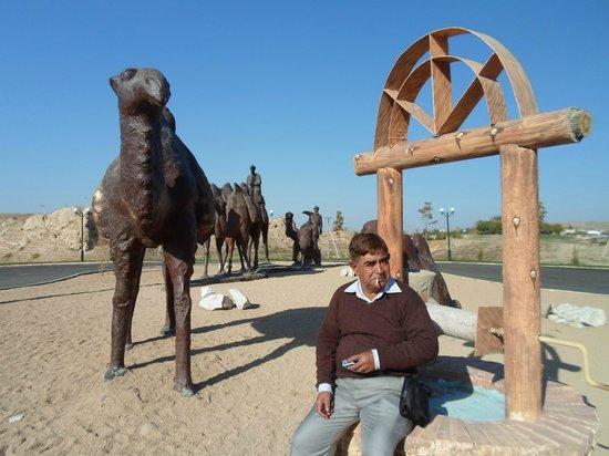 Afrasiab : Clay Models of Camels outside Afrasiob Ruins