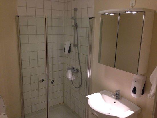 Hotel Svanen: Il bagno molto essenziale