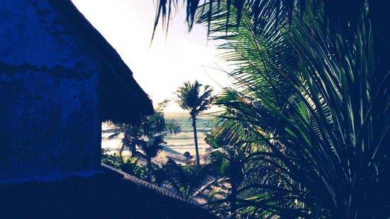 Hotel CalaLuna Tulum: View of the beach and sea from cabana #4
