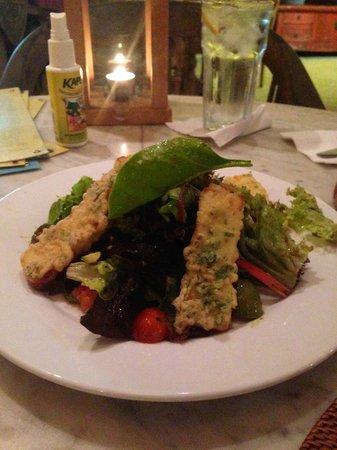Bon Ton Resort: Haloumi crusted salad! yummmm