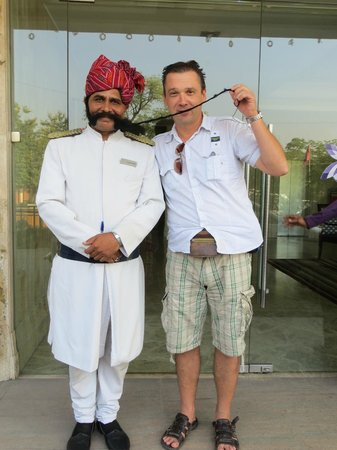 Royal Orchid Central Jaipur: with the doorman