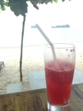 Scarborough Fish & Chips Restaurant: pure watermelon juice with a view