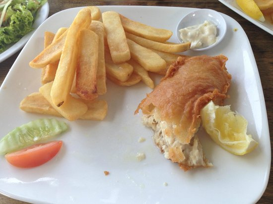 Scarborough Fish & Chips Restaurant: my RM12 fish and chips! YUM
